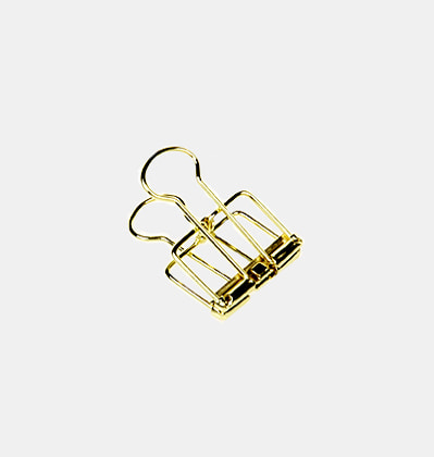 브라스클립 Brass Binder Clips Small 10개Set
