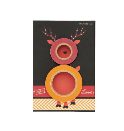 크리스마스 막스 마스킹테이프 Mark's MASTE Christmas petit gift set - Rudolph