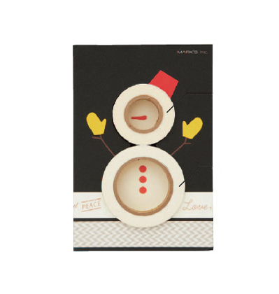 크리스마스 막스 마스킹테이프 Mark's MASTE Christmas petit gift set - Snowman