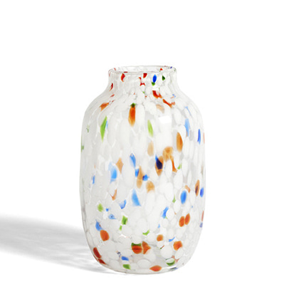 헤이 스플래시 화병 HAY Splash Vase Round L White Dot