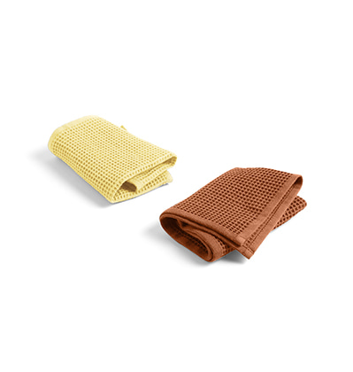 헤이 와플 디쉬 클로스 HAY Waffle Dish Cloth 2pcs Terracotta and Yellow