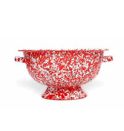 크로우캐년 콜랜더 채반 레드 CrowCanyonHome Splatter Large Colander Red Marble D62