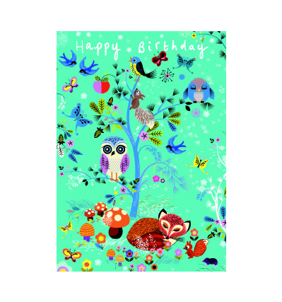 로저 라 보디 생일카드 Roger la borde Animal Prints Greeting Card (GCC 094)