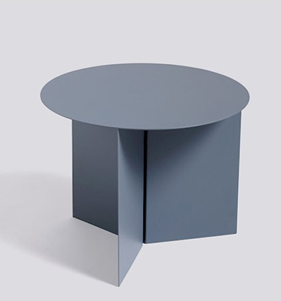 헤이 슬릿테이블 HAY Slit Table, Round Petrole Grey